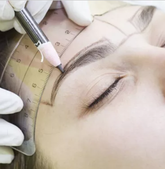 What is the best permanent eyebrow tattooing technique for men?